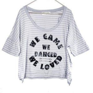Project Social T Gray Dance Love Graphic Tee Large